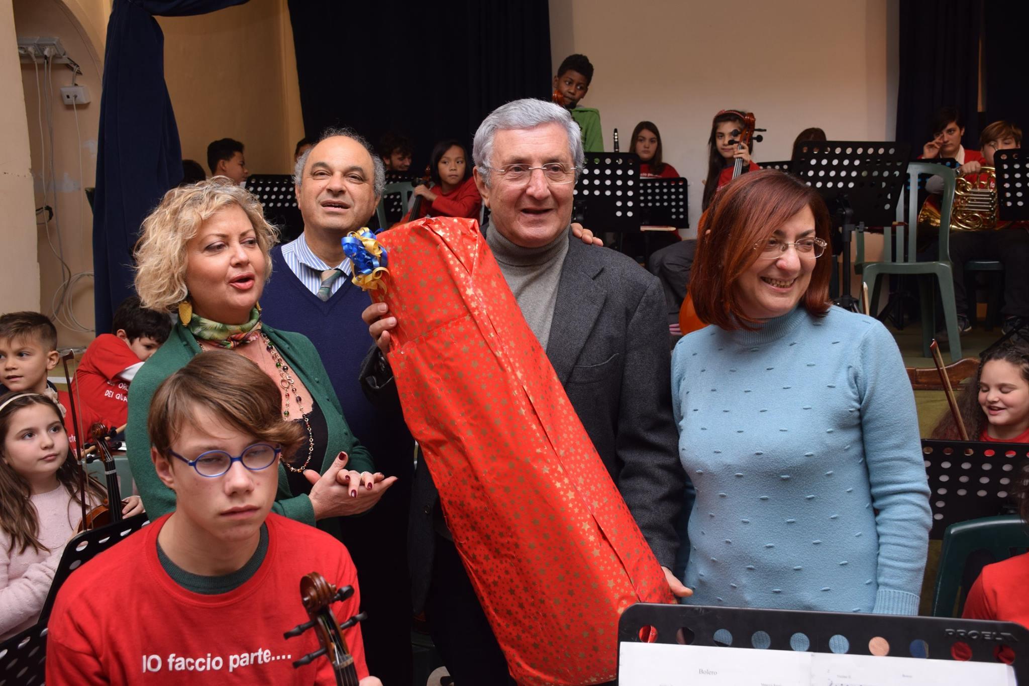 Annamaria Montone, il Maestro Mallozzi, Enzo De Paola e Carmela Formicola