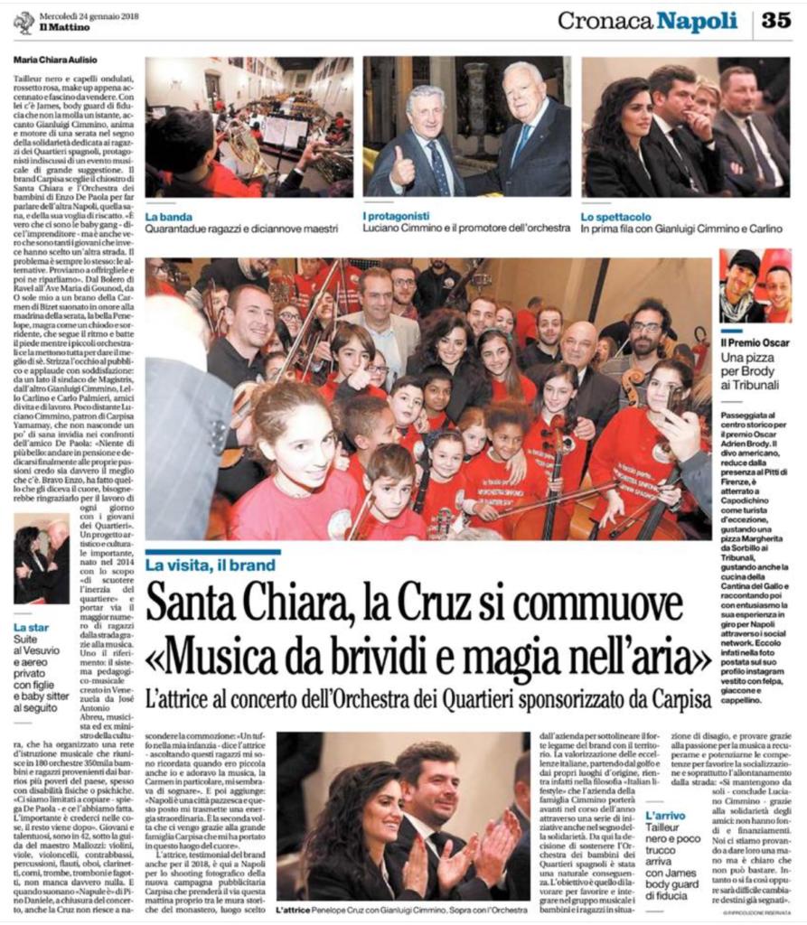 OSQS 2018.01.24 Penelope Cruz articolo de Il Mattino