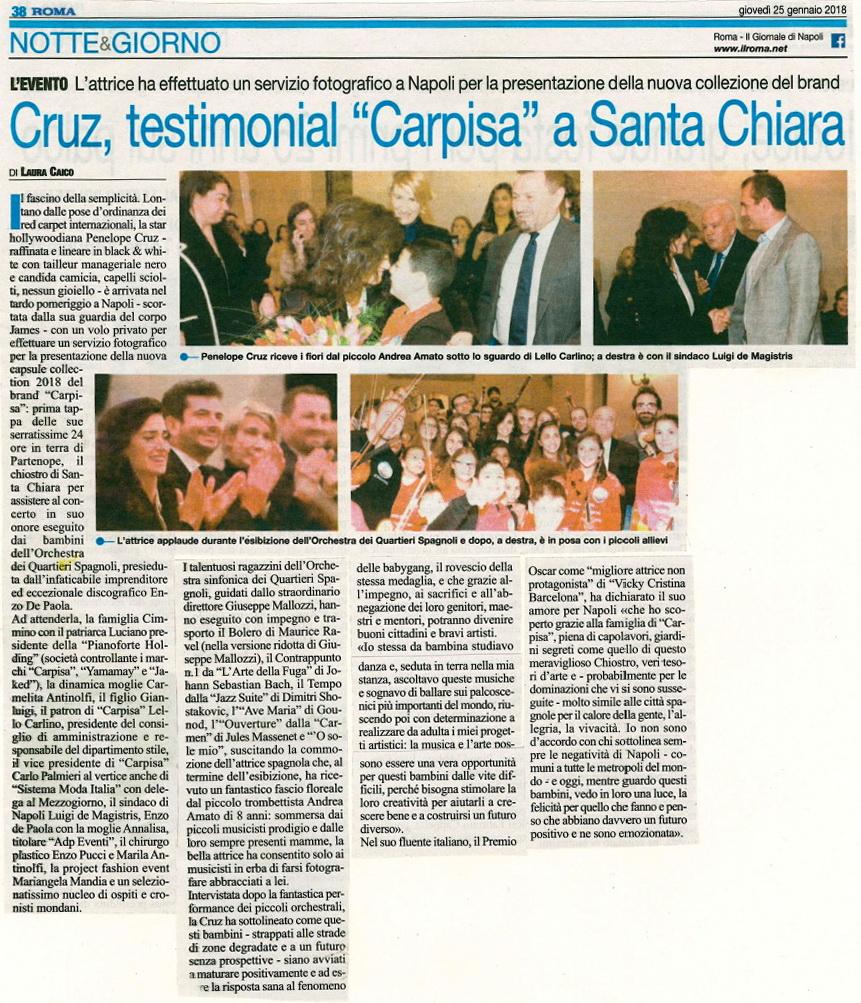 OSQS 2018.01.25 Penelope Cruz articolo sul Roma